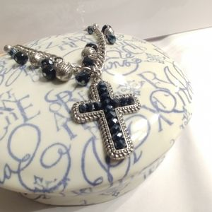 Western Charm Cross Necklace and Earrings